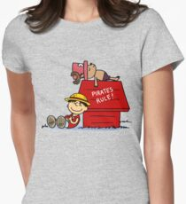 one piece snoopy Women's Fitted T-Shirt