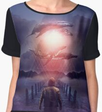 The Space Between Dreams and Reality Women's Chiffon Top