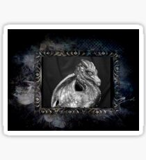 Gothic Pewter Male Dragon Sticker