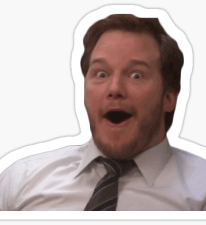 andy dwyer cutout Sticker