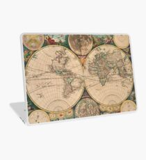 Vintage Map of The World (1672) 2 Laptop Skin