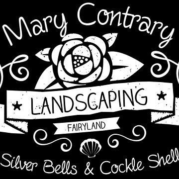 Mary Contrary Landscaping - Lovely Bookish Nursery Rhyme Inspired Design! by screampunk