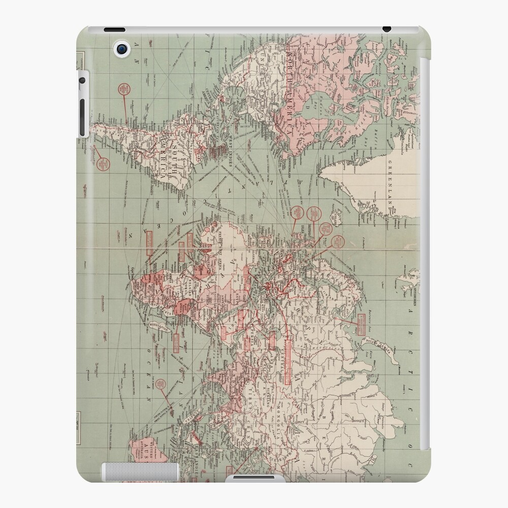 Vintage Map of The World (1918)  iPad Case & Skin