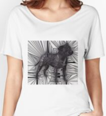 Staffordshire Bull Terrier Mosaic Women's Relaxed Fit T-Shirt