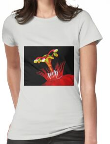 Flower Close-Up Womens Fitted T-Shirt