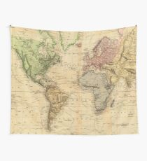 Vintage Map of The World (1831)  Wall Tapestry