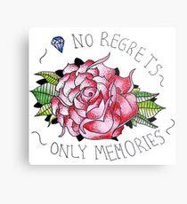 No regrets, only memories. Metal Print