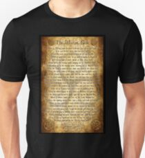 Wiccan Rede with Parchment Background Unisex T-Shirt