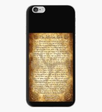 Wiccan Rede with Parchment Background iPhone Case