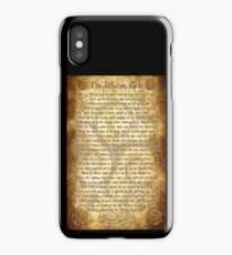 Wiccan Rede with Parchment Background iPhone Case/Skin