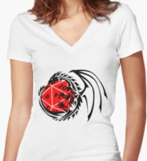 Dungeons and Dragons - Black and Red! Women's Fitted V-Neck T-Shirt