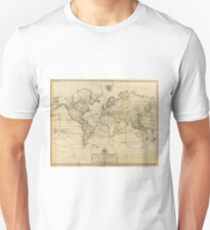 Vintage Map of The World (1800) Unisex T-Shirt