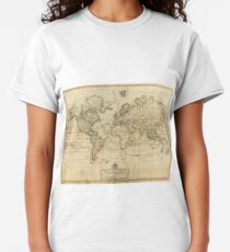 Vintage Map of The World (1800) Classic T-Shirt