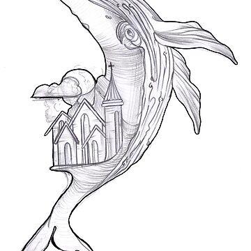 Fantasy Whale  by HorimonoAtelier