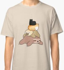 Sloth and Cat Pile Classic T-Shirt