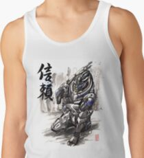 Mass Effect Garrus Sumie style with Japanese Calligraphy Men's Tank Top