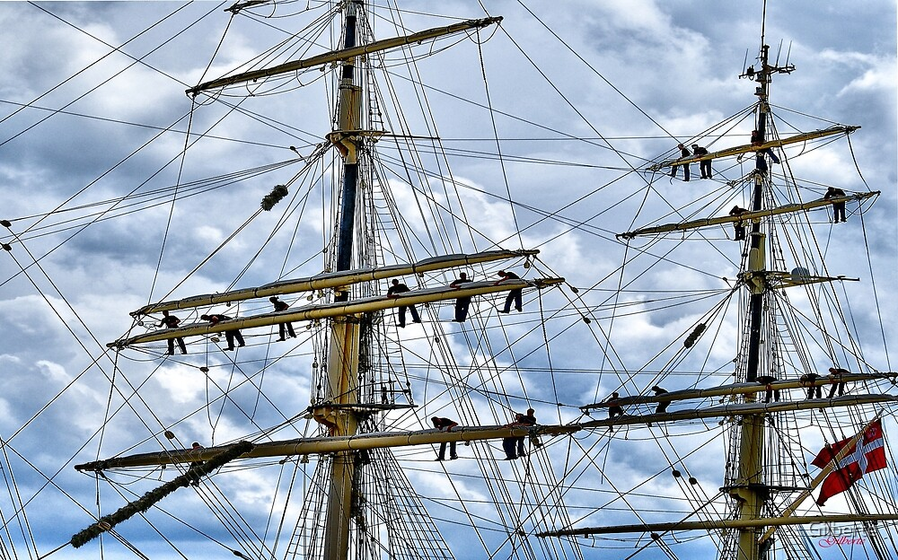 In the Masts - Antwerp by Gilberte