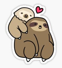 Two Toed Sloth and Three Toed Sloth Sticker