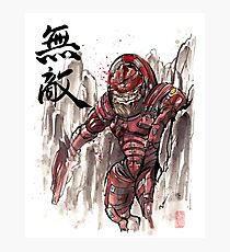 Mass Effect Urdnot Wrex Sumie style Photographic Print