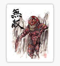 Mass Effect Urdnot Wrex Sumie style Sticker