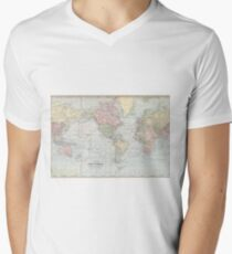 Vintage World Map (1901) Men's V-Neck T-Shirt