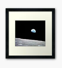 Earthrise Beautiful Astronomy Image Framed Print