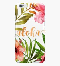 Hawaiian Tropical Floral Aloha Watercolor iPhone 6 Case
