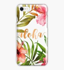 Hawaiian Tropical Floral Aloha Watercolor iPhone Case/Skin