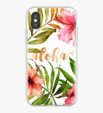 Hawaiian Tropical Floral Aloha Watercolor iPhone Case