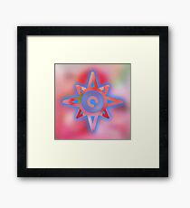 Cool,amazing,abstract,star,symbol,contemporary art,modern Framed Print
