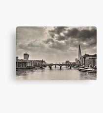 Early Morning on Millenium Bridge Canvas Print