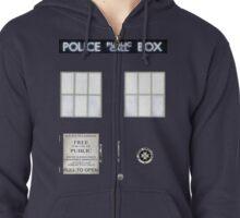 TARDIS Zipped Hoodie