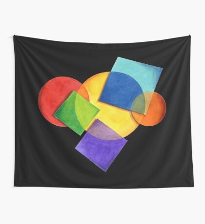 Rainbow Candy Geometric Wall Tapestry