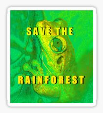 Save the Rainforest frog Sticker