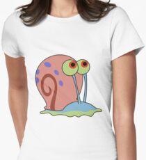 gary the snail Women's Fitted T-Shirt