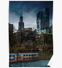 Post Apocalyptic Chicago Poster