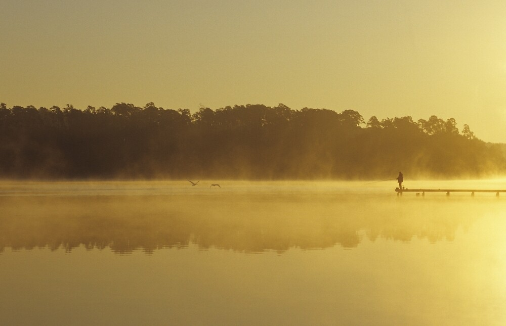 Fishing at Sunrise by Kasia Nowak