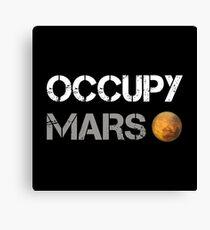 Occupy Mars Shirt Canvas Print