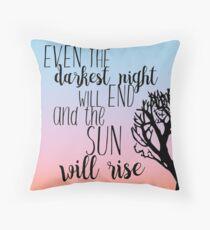 Les Miserables Sunrise Quote Throw Pillow