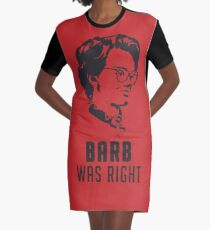 Barb Was Right - RED Graphic T-Shirt Dress