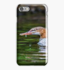 Uncommon photo of a Common Merganser iPhone Case/Skin