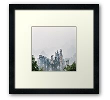Mountain peaks in fog Zhangjiajie National Forest Park art photo print Framed Print