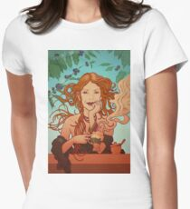 My coffee muse Women's Fitted T-Shirt