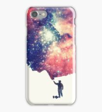 Painting the universe (Colorful Negative Space Art) iPhone Case/Skin