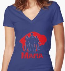 bills mafia Women's Fitted V-Neck T-Shirt