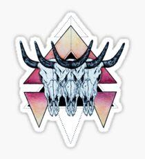 Bison Skull  Sticker