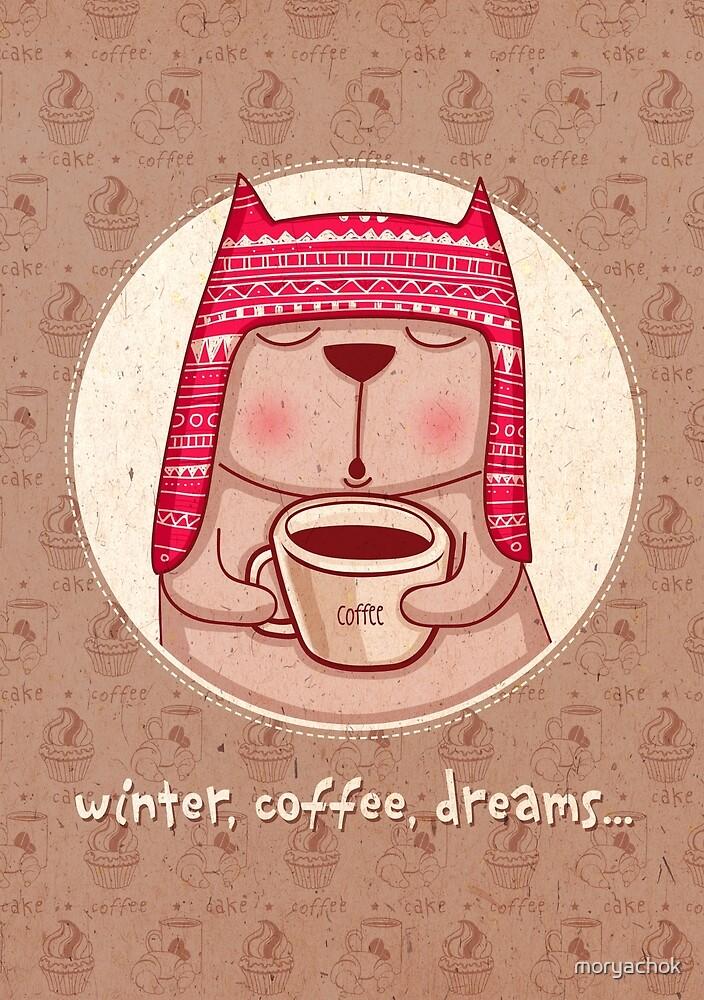winter, coffee, dreams by moryachok