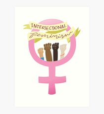 intersektionales Feminismus-Symbol Kunstdruck