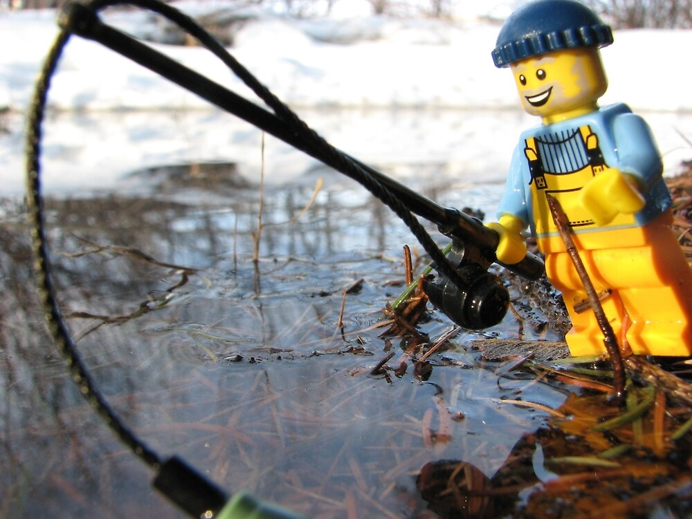 Some Fishing Action by Shauna  Kosoris