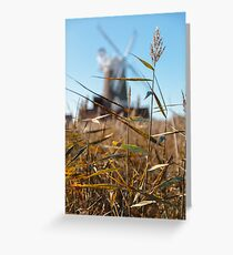 Wheat and Windmill Greeting Card